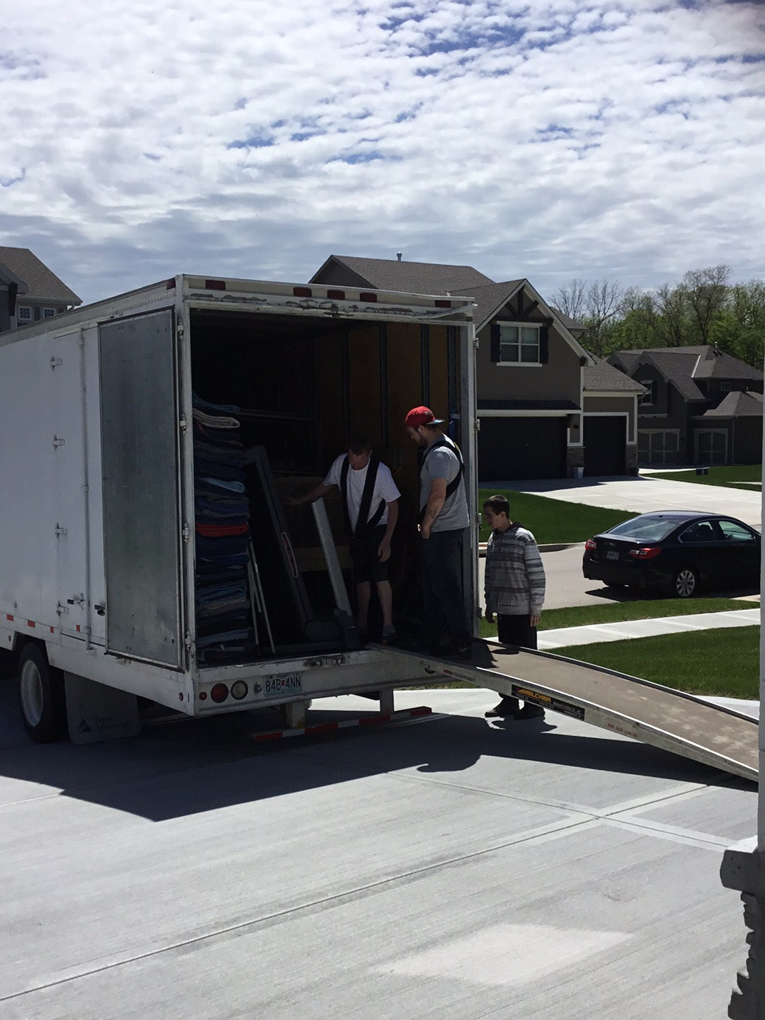 Moving day with our crew